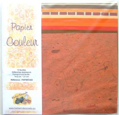 Papier Couleur - 6 tons au choix MARRON ORANGE