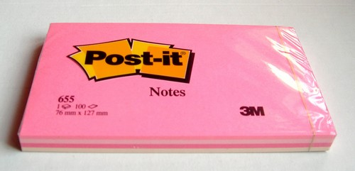 Post-it ROSE - 4 couleurs - 100 feuilles - Format 76x127 mm