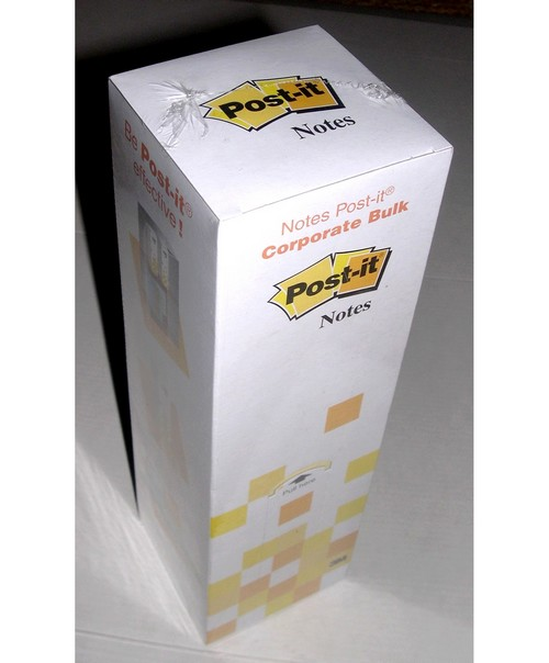 Post-it jaune - TOUR distributrice de 33  blocs de 80 notes- Format 76x76 mm
