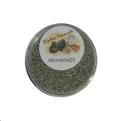 Microbille ARGENT - Petite boite ronde