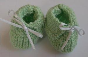 Chaussons, ton VERT
