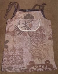 Robe chasuble, ton MARRON