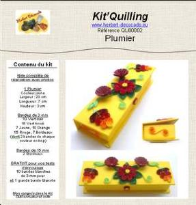 Kit'Quilling - PLUMIER