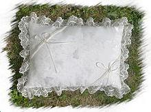 Coussin mariage blanc rectangle